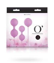 Набор вагинальных шариков Luxe O Weighted Kegel Balls, цвет розовый - NS Novelties