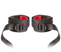 Манжеты на запястья с ремнями для крепления Buckled Hand Restraints, цвет черный - Blush Novelties