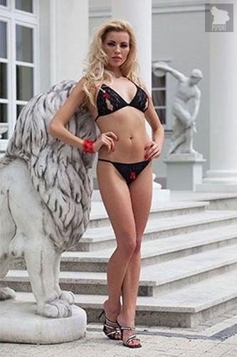 Комплект из двух предметов с открытым доступом, цвет красный/черный, S-M - Xsensual lingerie