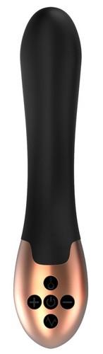 Черный вибратор Posh с функцией нагрева - 20 см., цвет черный - Shots Media