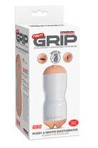 Мастурбатор вагина-ротик Pipedream Extreme Toyz Tight Grip Pussy & Mouth Masturbator, цвет белый - Pipedream