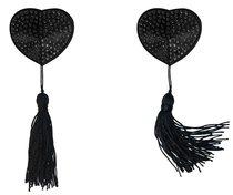 Черные пэстисы-сердечки Evans с кисточками, цвет черный - Lola Lingerie