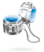 Поножи №5 СК-Визит с меховой подкладкой, цвет серебряный - Sitabella
