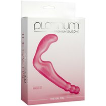 Страпон Platinum Premium Silicone - The Gal Pal, цвет розовый - Doc Johnson