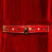 Ошейник декоративный со стразами и колечком, цвет красный - Подиум