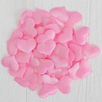 Набор декоративных розовых сердец - 50 шт., цвет розовый - Сима-Ленд