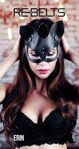 Чёрная маска кошки Erin Black, цвет черный - Rebelts