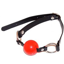 Кляп-шарик на ремне EroticFantasy Ball Gag - Red, цвет красный - Erotic Fantasy