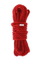 Красная веревка для шибари DELUXE BONDAGE ROPE - 5 м., цвет красный - Dream toys
