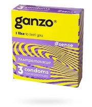 Презервативы Ganzo Sense №3 ультратонкие, 3 шт. - Ganzo
