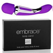 Вибратор двусторонний Embrace - Body Wand Massager, цвет фиолетовый - California Exotic Novelties