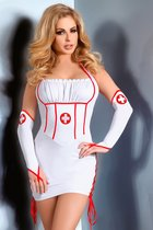 Костюм медсестры Raisa, цвет белый, размер L-XL - Livia Corsetti