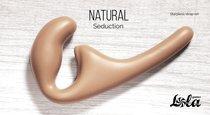 Безремневой анальный страпон Natural Seduction Beige 5010-01lola, цвет бежевый - Lola Toys