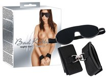 Набор БДСМ: наручники и маска на глаза чёрного цвета - ORION