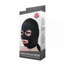 Маска-шлем с отверстиями для глаз и рта, цвет черный, OS - МиФ