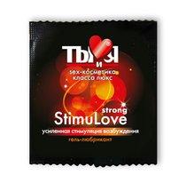 Разогревающий гель-лубрикант Stimulove Strong в одноразовой упаковке - 4 гр. - Bioritm