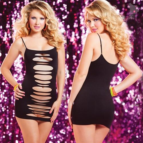 Платье Seamless Slash Dress двустороннее, цвет черный, размер S-L - Seven`til Midnight