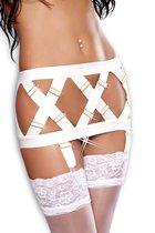 Эффектный пояс-юбка для чулок Sublime garter belt, цвет белый, размер S-M - Lolitta