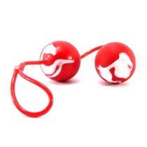 Вагинальные шарики Erotic Duo Balls, цвет красный - Seven Creations