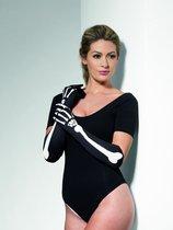Длинные перчатки с изображением костей, цвет черный - Fever