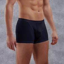 Боксеры из полупрозрачной хлопково-модальной ткани, цвет темно-синий, L - Doreanse