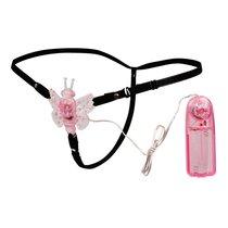 Розовая вибробабочка Sexy Friend на ремешках, цвет розовый - Bioritm