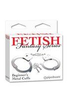 Металлические наручники Beginner s Metal Cuffs - Pipedream