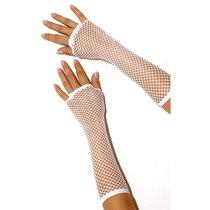 Перчатки Long Fishnet Gloves в сетку, цвет белый, OS - Electric Lingerie