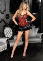 Лаковая мини-юбочка, цвет черный, L - Leg Avenue