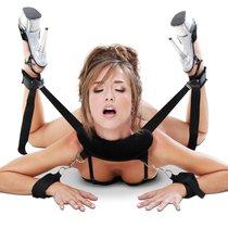 Фиксация-поддержка для секс-позиций Position Master With Cuffs с наручами, цвет черный - Pipedream