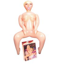 Надувная секс-кукла в позе наездницы Jezebel Ryding, цвет телесный - Nanma (NMC)