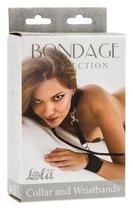 Ошейник с наручниками Bondage Collection Collar and Wristbands Plus Size - Lola Toys