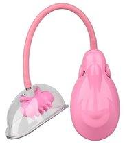 Розовый вакуумный вибромассажер VIBRATING VAGINA PUMP, цвет розовый - Dream toys