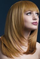 Рыжеватый парик со стрижкой лесенкой, цвет оранжевый - Fever