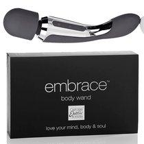 Вибратор двусторонний Embrace - Body Wand Massager, цвет серый - California Exotic Novelties