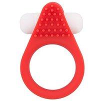 Красное эрекционное кольцо LIT-UP SILICONE STIMU RING 1 RED, цвет красный - Dream toys