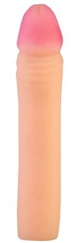 Телесный реалистичный фаллоудлинитель - 19 см., цвет телесный - МиФ