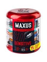 Ультратонкие презервативы в металлическом кейсе MAXUS Sensitive - 15 шт. - maxus