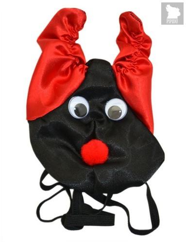 Черно-красные шаловливые мужские трусы «Дьявол», цвет красный/черный, S-L - Playstar
