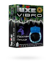 Эрекционное виброкольцо Luxe VIBRO Райская птица - LUXLITE