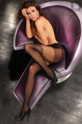 Экстравагантные колготки Alkyone, цвет черный, размер S-L - Livia Corsetti