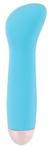 Голубой мини-вибратор Cuties Mini - 12,9 см., цвет голубой - ORION