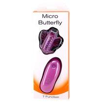 Вибромассажер-бабочка на пульте MICRO BUTTERFLY, цвет розовый - Seven Creations