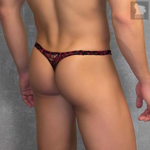 Кружевные мужские стринги с узором Doreanse, цвет черный, 2XL - Doreanse