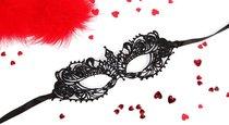 Черная ажурная текстильная маска Кэролин, цвет черный - Bioritm