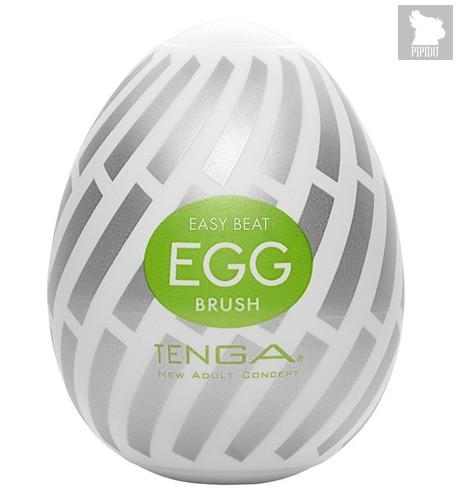 Мастурбатор-яйцо EGG Brush, цвет белый - Tenga
