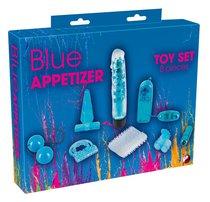 Голубой вибронабор из 8 предметов Blue Appetizer, цвет голубой - ORION