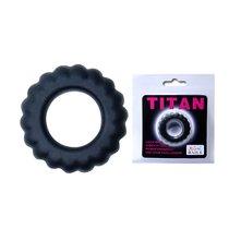 Эреционное кольцо с крупными ребрышками Titan - Baile