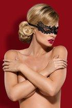 Чёрная ажурная маска на глаза, цвет черный, размер OS - Obsessive