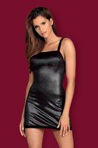 Эффектное платье Leatheria, цвет черный, S-M - Obsessive